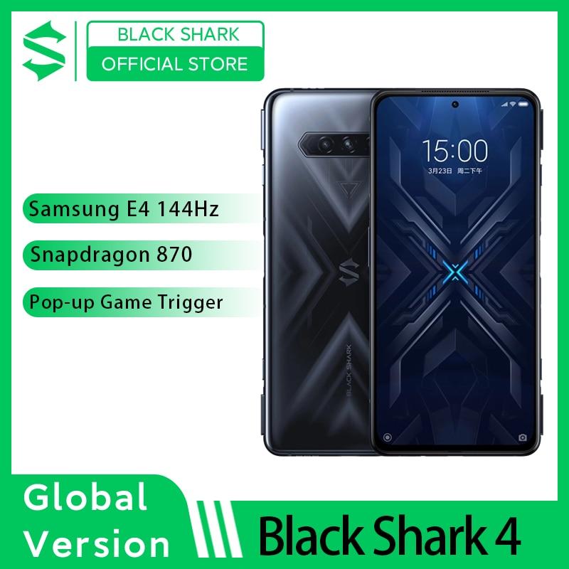 Black Shark 4 – Smartphone 6 go/8 go 2021 go, processeur Snapdragon 128, écran AMOLED E4, avec fréquence de rafraîchissement de 870Hz, à gradation continue, UFS 144, prévente, 3.1