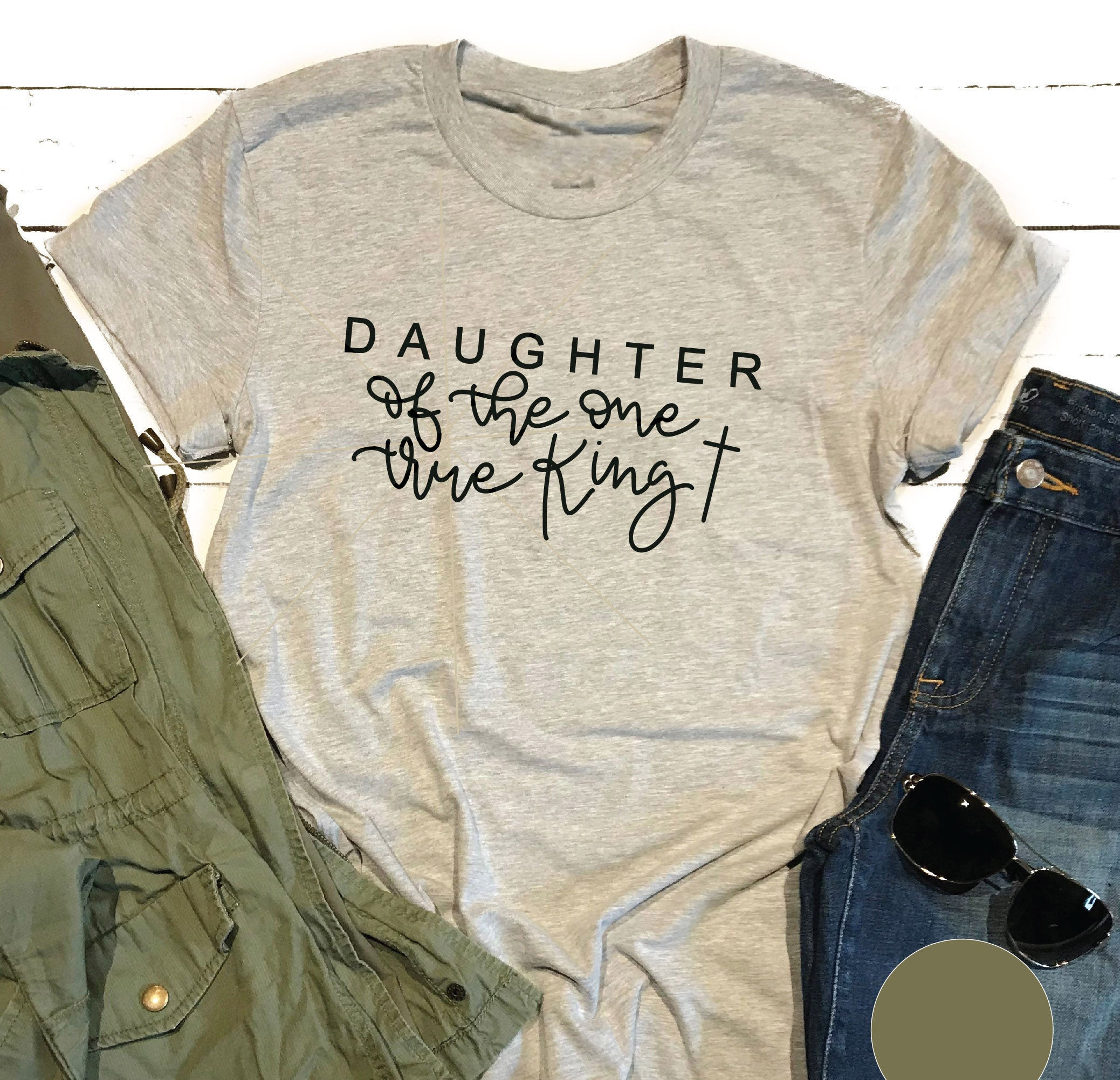 하나의 진정한 왕의 딸 기독교 예수 종교 여성 패션 순수한 coton 슬로건 견적 젊은 hipster 티즈 스트리트 탑 L560