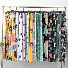 Fashion Women Sleep Bottoms Viscose Print Loose Full Length Pants Elastic Waist Sleeping Shorts Prin