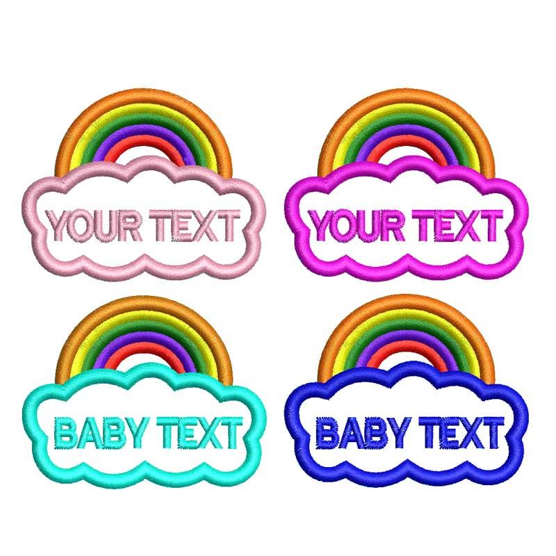Nome personalizado do bebê do jardim de infância do arco-íris remendo nome do bordado das crianças adesivos para o chapéu de pano nomes de costura avião do barco do carro