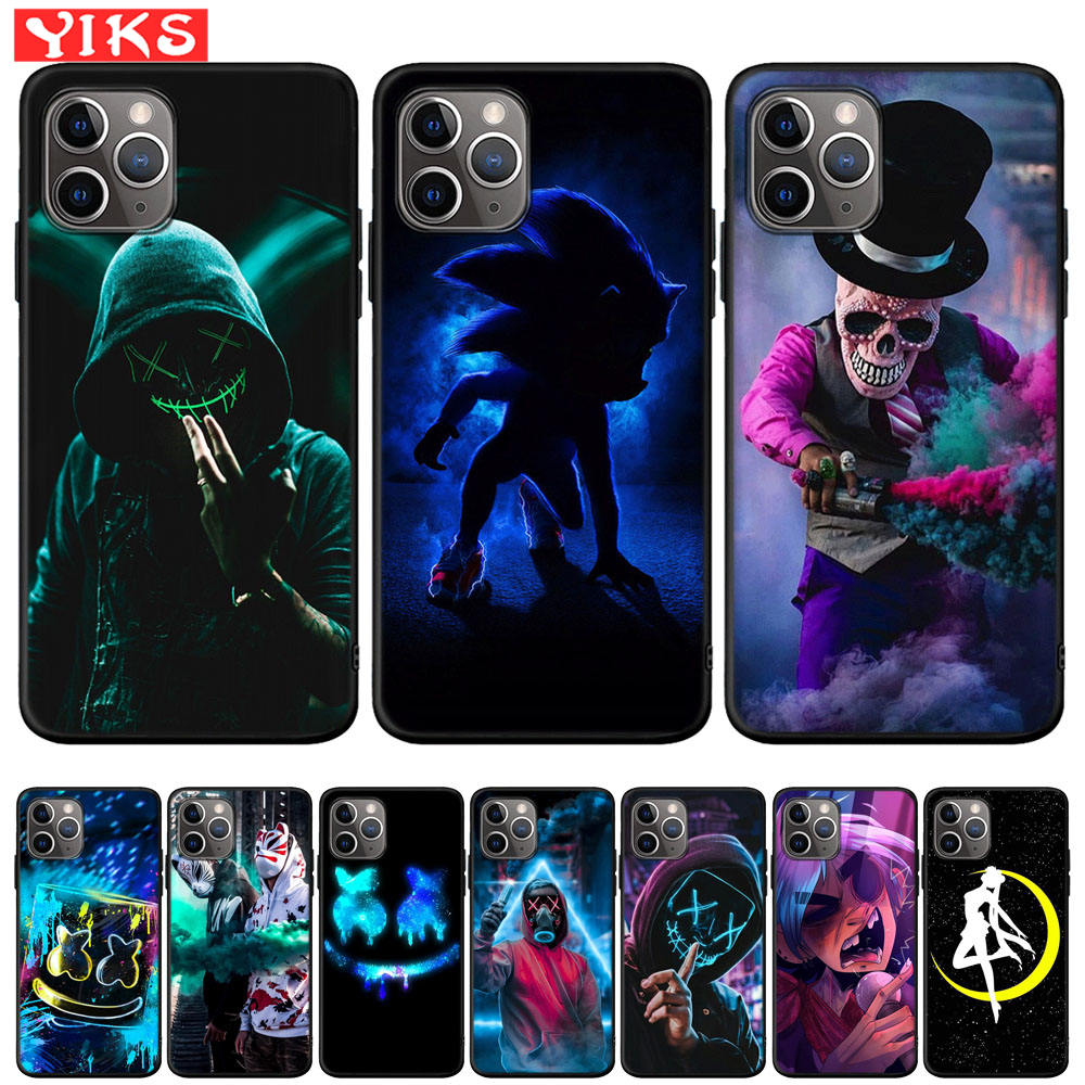 Carcasa de Anime de la marca Skull Street Tide para iPhone X, XR, XS, 11 Pro Max, 8, 7, 6, 6S Plus, funda para iPhone 5, 5S, SE, Fundas