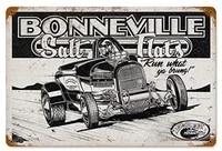 vintage bonneville salt flats 8 x 12 inch beer pub garage man cave indoor shop metal signs wall decor tin sign