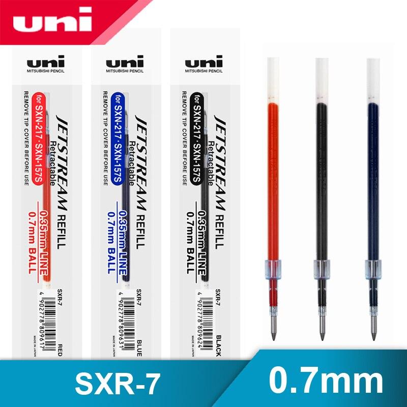 12 шт./лот Mitsubishi Uni SXR-7 Jetstream серии гладкая шариковая ручка пополнения 0,7 мм для SXN-1000/SXN-157S/SXN-189DS гелевые ручки