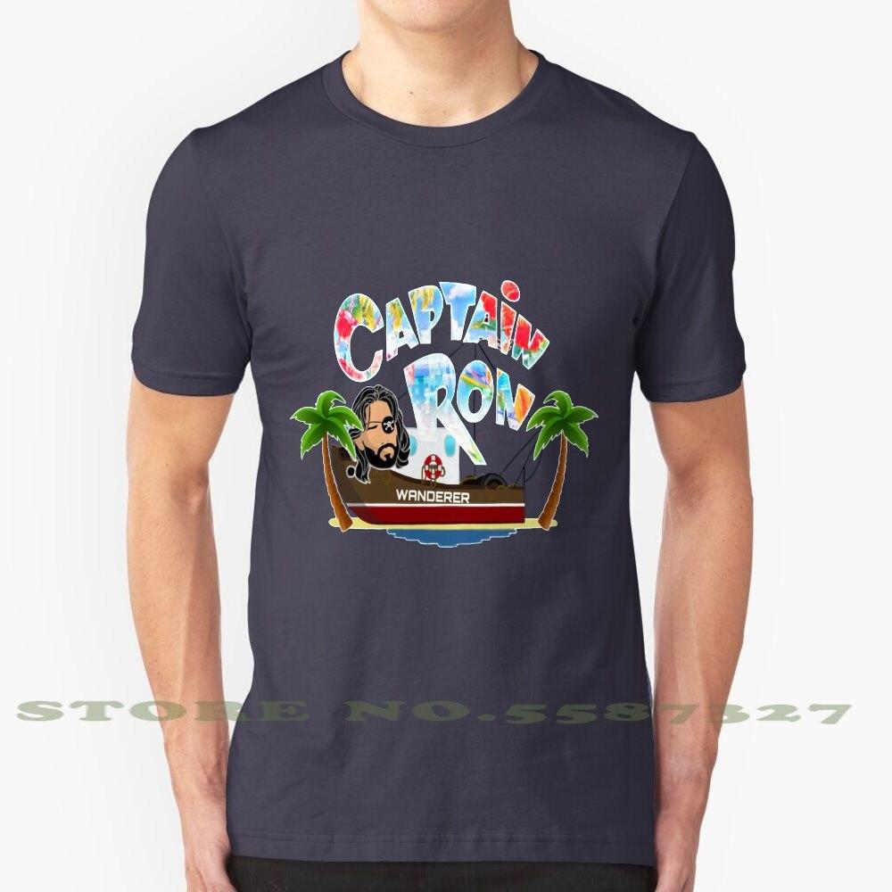 Capitán Ron vagabundo personalizado gráfico divertido gran oferta camiseta capitán Ron película 90S 90 Kurt Russell PIRATA DE LA COSTA DE LA ISLA agua océano
