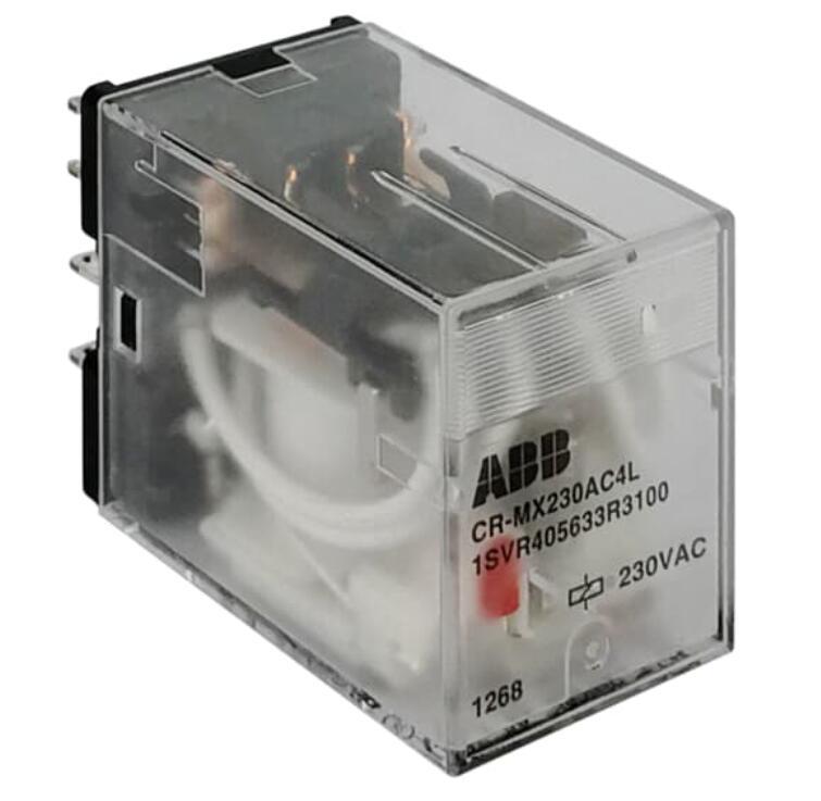 CR-MX230AC2L 10229081 ac   220vac   2no + 2nc   com lâmpada CR-MX plug - in relé intermediário