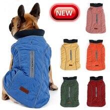 Chien vêtements chien chaud coton-rembourré manteau hiver chien animal de compagnie réfléchissant gilet veste rétro confortable chaud animal tenue vêtements pour grands chiens