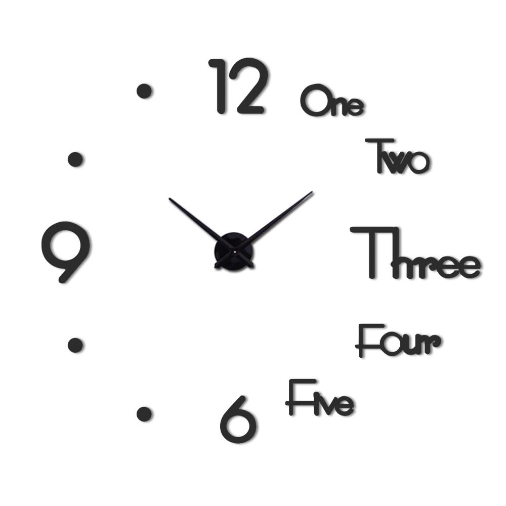 Wall Clock  Metal Quartz  Watch Clocks 3d Diy Home Decoration Acrylic Mirror Stickers  Modern Needle