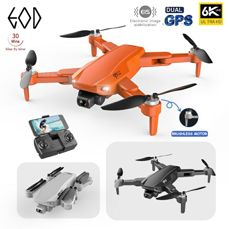2021 New S608 GPS Drone 6K Dual HD Camera Professional Aerial Photography Brushless Motor Foldable Quadcopter RC Distance 3000M