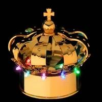 nightclub champagne bottle caps led light royal crown bottle caps gold silver color optional sample promotion 1pc