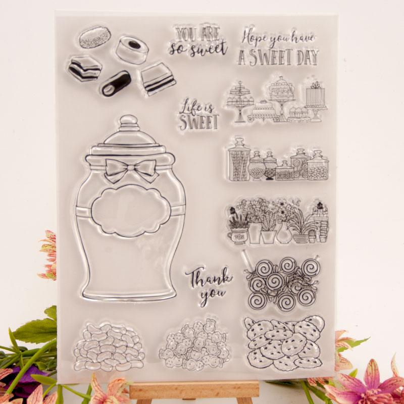 Garrafa de doces de borracha silicone claro selos para scrapbooking tampões transparentes selo fundo carimbo cartão fazendo diy