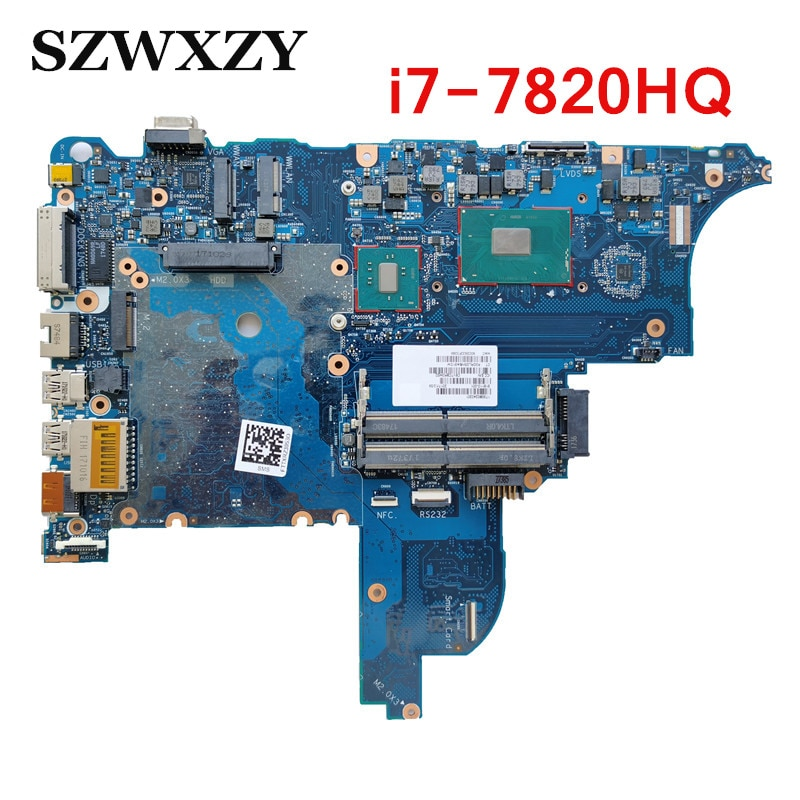 Para HP ProBook 650 G3 placa base de computadora portátil 6050A2868801-MB-601 918110-001 918110-601 con i7-7820HQ CPU