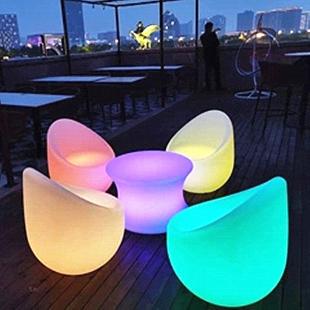 مصابيح LED مستديرة طاولة مشروبات مضيئة بار/الجدول Led الأثاث البلاستيكية/نادي بار/لوازم الديكور الموضة