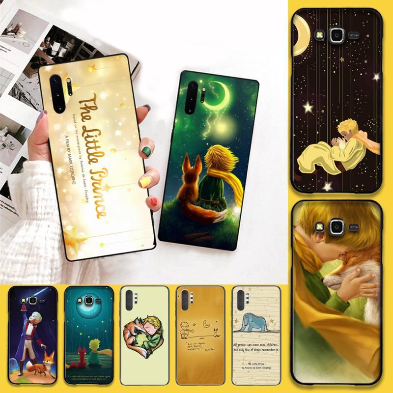 HPCHCJHM little prince fox recién llegado carcasa negra para Samsung Galaxy J7 J8 J6 Plus 2018 Prime Note 7 8 9 10 pro