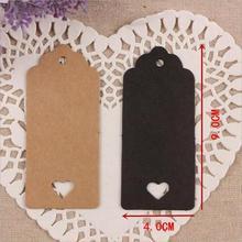 1000 pcs kraftpapier hart hollow gift tag sieraden label tag voor gift/bruiloft producten opmerking tag, prijskaartjes 9x4cm