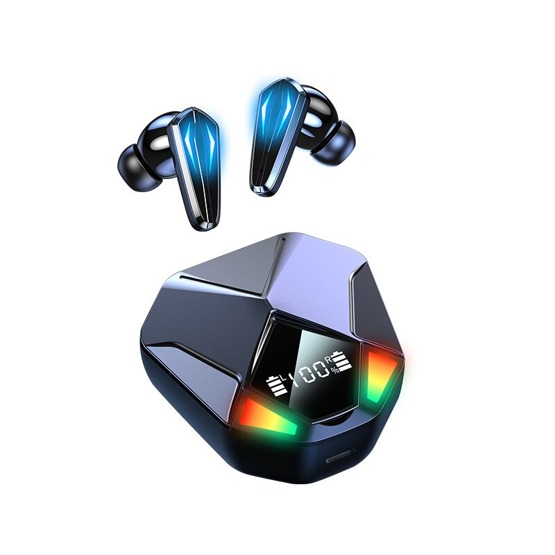 X6 منتج جديد الألعاب سماعة لاسلكية تعمل بالبلوتوث سماعة بكلتا الأذنين 5.1 وضع خاص TWS صغير في الأذن الحد من الضوضاء دون تأخير