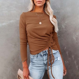 Spring Autumn Solid Pleated Bottoming Sweater Women Fashion Slim Sexy Waistless Knitted Pullover Female Streetwear Casual Tops