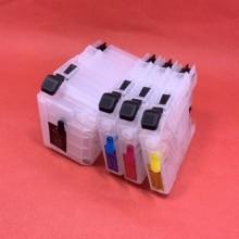 Cartouche dencre rechargeable YOTAT LC529 LC525 LC529XL LC525XL pour imprimante Brother DCP-J100 DCP-J105 MFC-J200