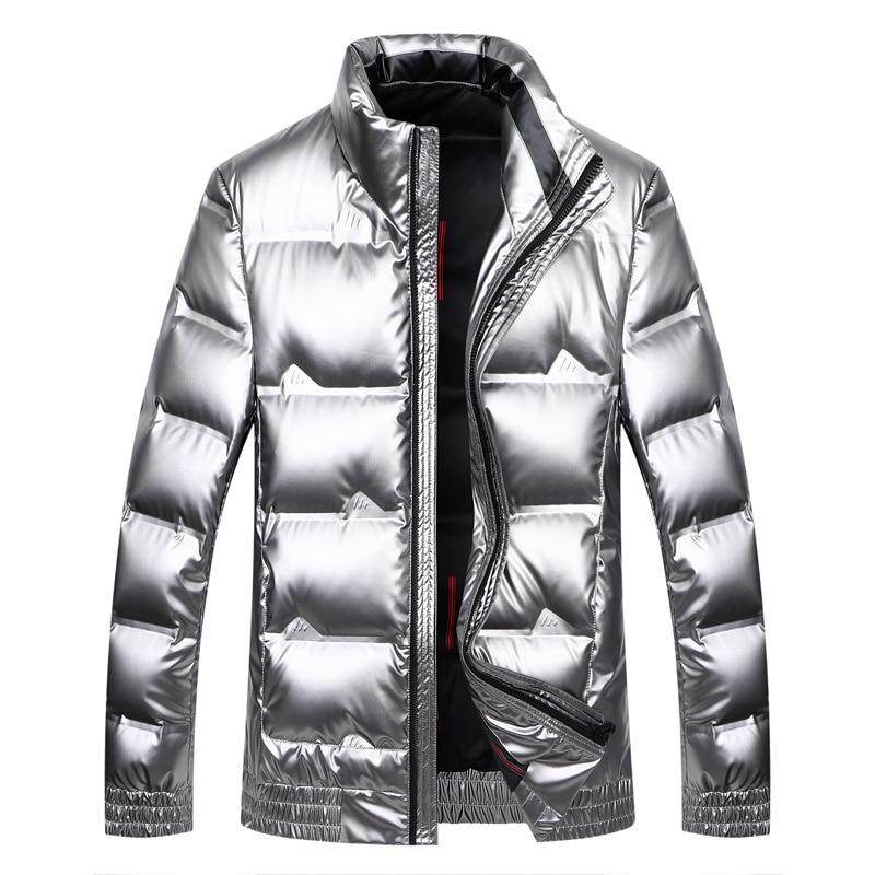 High Quality Mens Jacket Parka Men Classic Fashion White Down Jacket Coats Outdoor Outwear Warm Winter Black Silver Jacket Coat