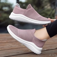 2021couples ultralight running shoes flying woven breathable womens vulcanized shoes wear resistant md outsole mens sneakers