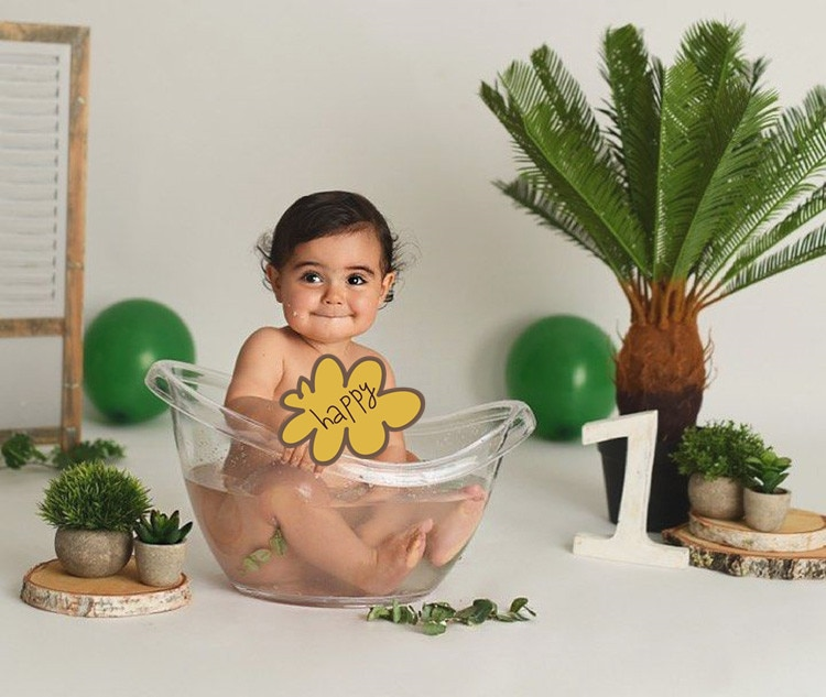 2021 Newborn Photography Props Transparent Bathtub Bucket Posing Baby Photo Prop Furniture Boy Girl Boy Fotografie Accessoires enlarge