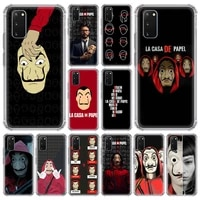 spain tv money heist house paper case for samsung galaxy s20 fe s10 s8 s9 plus note 10 lite 20 airbag shockproof soft cover