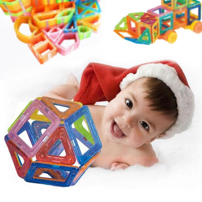 Conjunto de bloques magnéticos de construcción de Mini diseñador magnético de 42 Uds.-185 Uds., modelo de juguete de construcción, juguetes educativos de plástico para niños, regalos