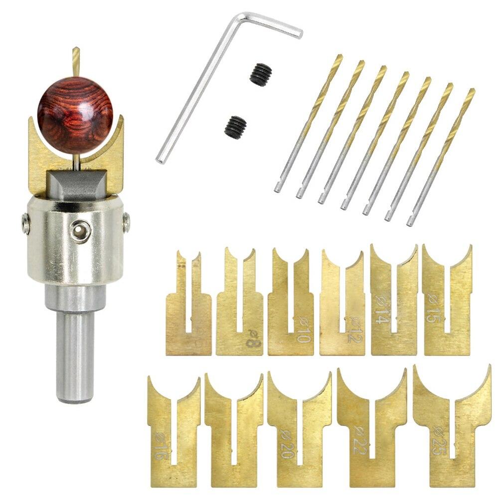13 Uds fresadora cortador de cuentas de madera de ejercicios poco 6-12mm Router poco bola hoja brocas herramientas para trabajar la madera para bricolaje artesanía