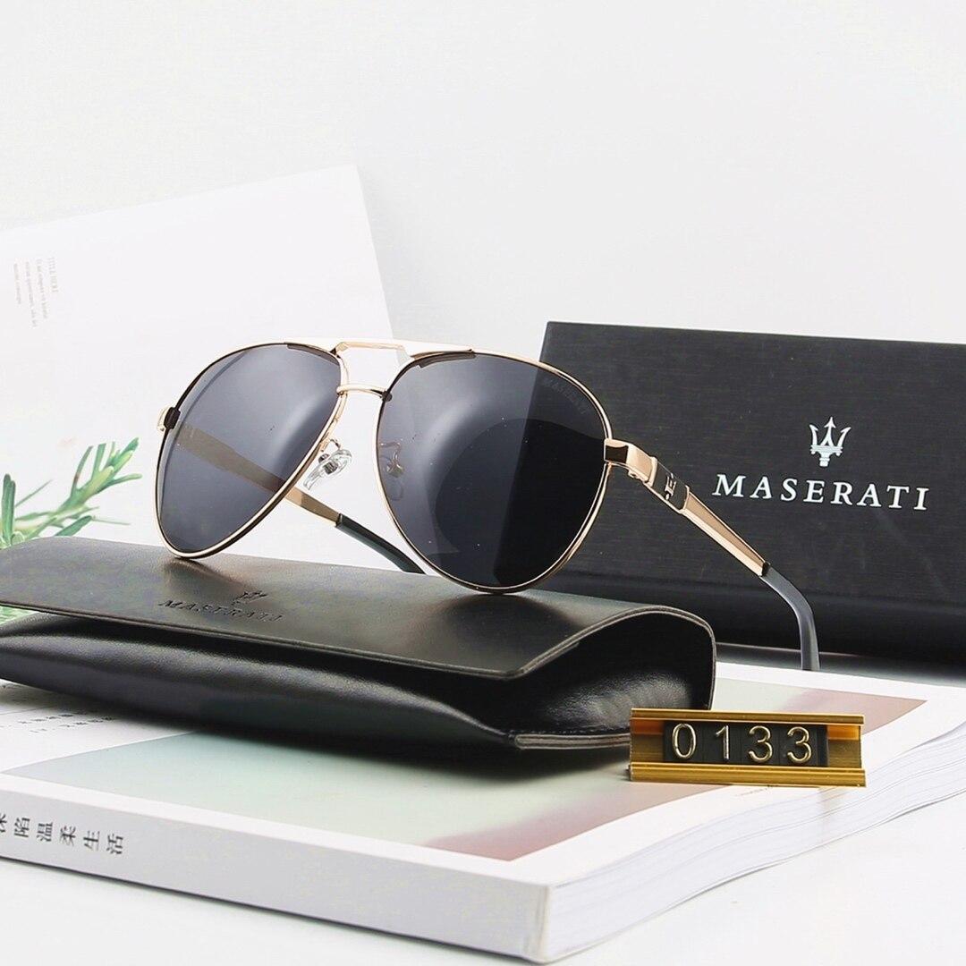 Original Maserati Men Sunglasses Luxury Polarized Driving Glasses Ladies Pilot Ladies Couple 0133