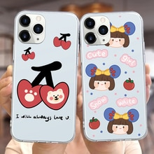 Cute Girls Fruit Case For Xiaomi Redmi 6 6A 7 7A 8 8A 9 9A 9C Note 5 8Pro 8T 9s 9Pro 10 10Pro K20 K3