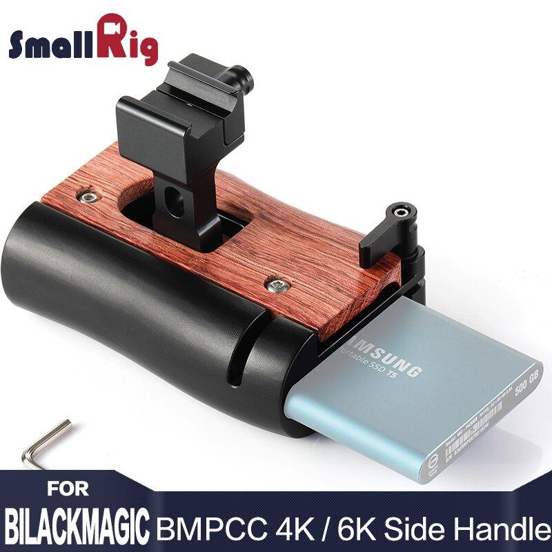 SmallRig DSLR Cámara NATO manija de la jaula de la Cámara mango lateral para BMPCC 4K / BMPCC 6K cámara y para Samsung T5 SSD 2270