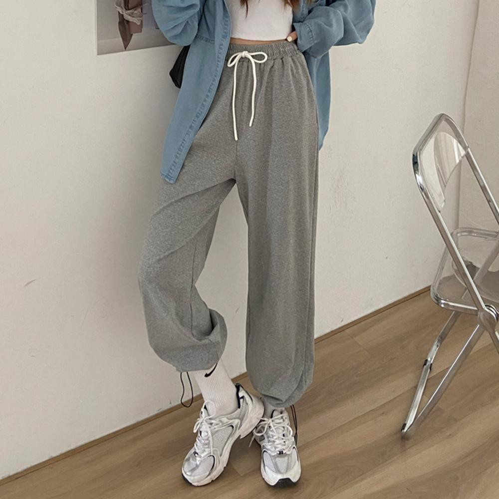Autumn Sweatpants Women Baggy Pants Wide Leg Sport Pants Oversized Joggers Streetwear High Waisted L