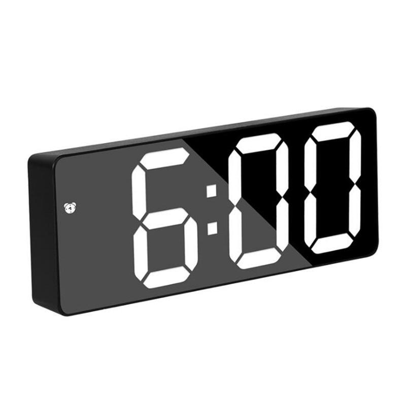 Reloj despertador digital led con control de voz, alarma con comandos por voz, repetición sonido, para dormir, visualización de temperatura, modo nocturno