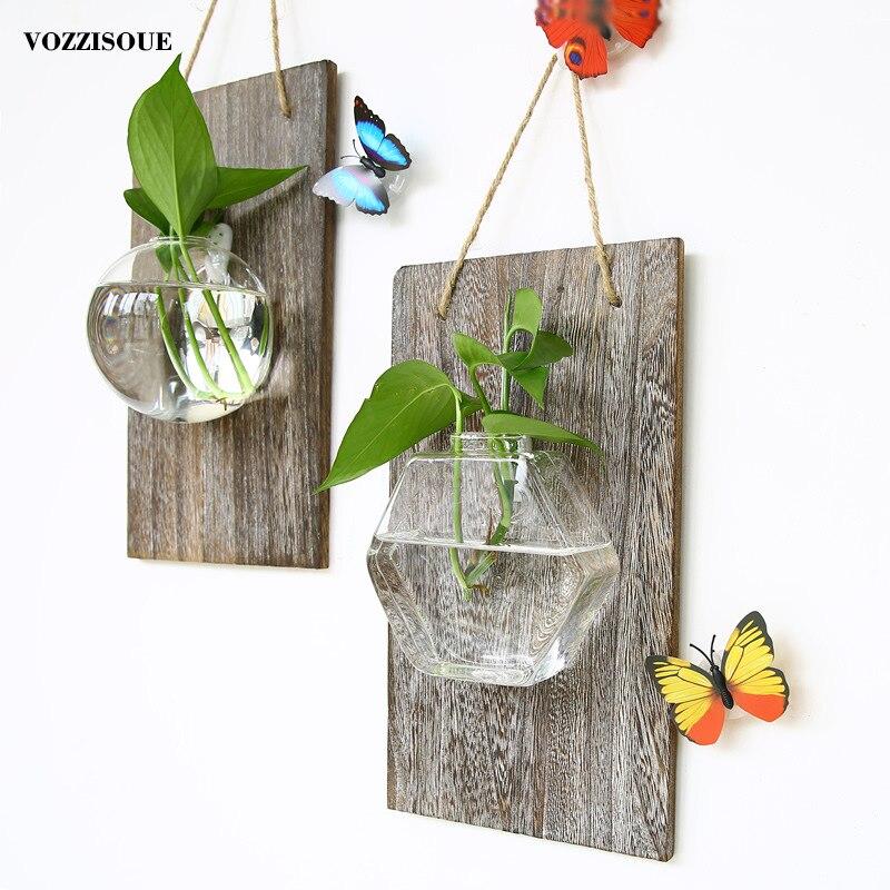 2019 горшков на стену стеклянный плантатор подвесной цветочный горшок для орхидеи