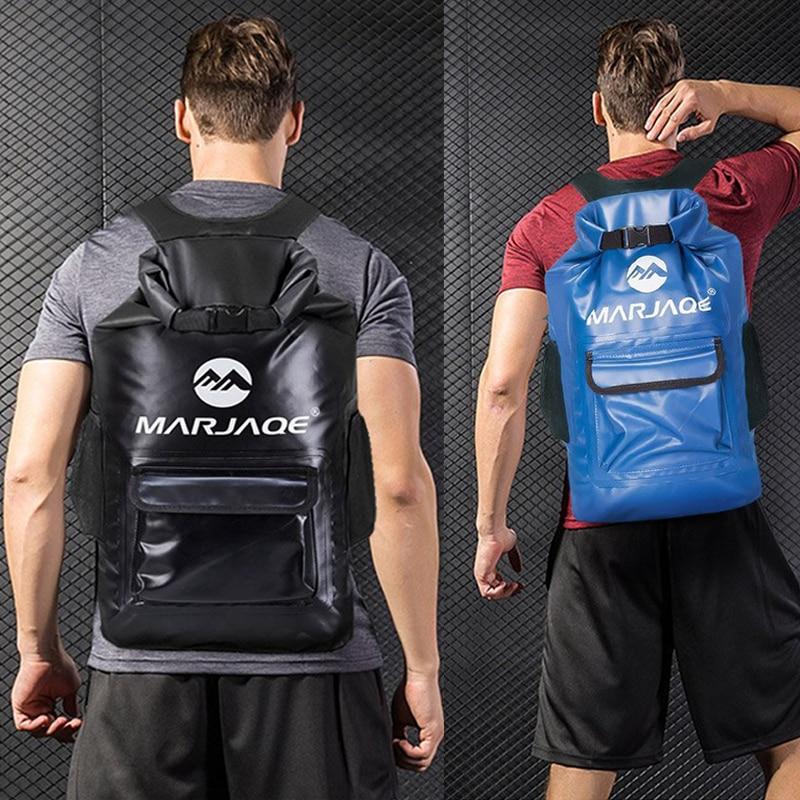 7 Colors 22L Big Capacity Waterproof Bag Outdoor Sport Swimming Backpack Portable Foldable Camping Dry Bag Men Women New Arrival
