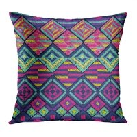 ethnic throw pillow cushion cover ethnic tribal colorful soft velvet square cushion case couch cover pillowcase for sofa chair
