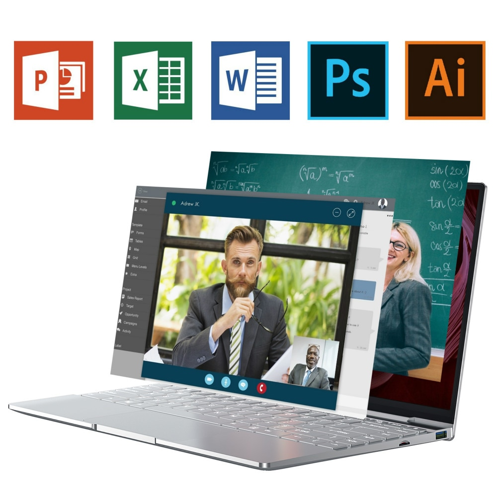 14 Inch Laptop Intel Celeron N5095 Slim Netbook DDR4 12GB RAM 512GB SSD Backlit Keyboard 1920x1080 Computer PC Business Notebook