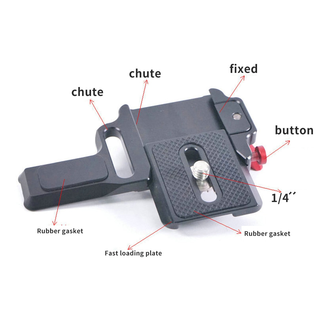 Placa de liberación rápida Feichao para Zhiyun Crane-M2 abrazadera de montaje Gimbal accesorios de placa QR adaptador de aleación de aluminio montaje 1/4 Tornillo