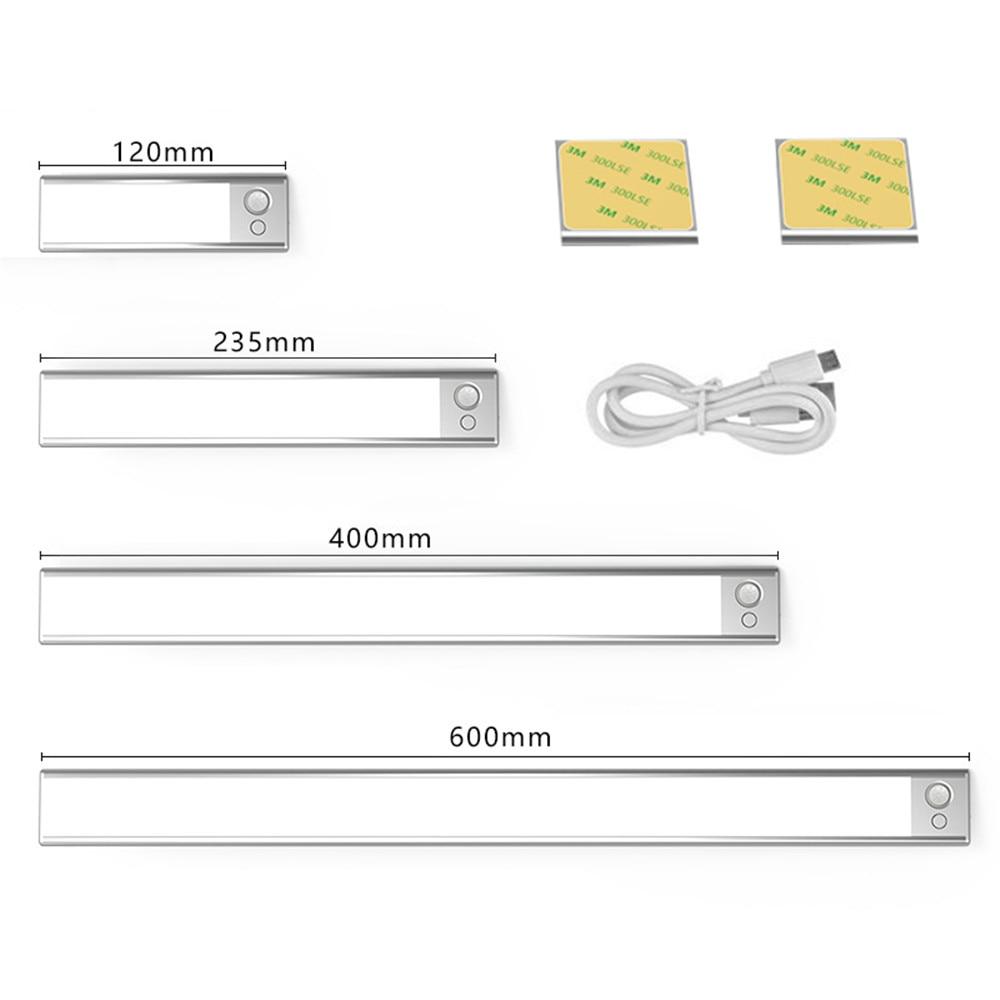 AliExpress - Ultra-thin 36/76/140LEDs PIR Motion Sensor Under Cabinet Light USB Rechargeable 3 Color Modes LED Wardrobe Closet night Lights