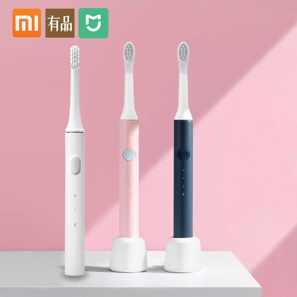 Xiaomi escova de dentes elétrica sônica clareamento oral care mijia t100 toothbrsush soocas ex3 à prova dwaterproof água escova de dentes 5