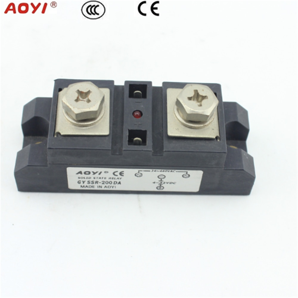 150A 200A 250A 300A DC-AC dc signal control ac load relay module type / power solid state relay  - buy with discount