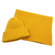 Fashion Brand hat Men high quality Wool Hat With Scarf