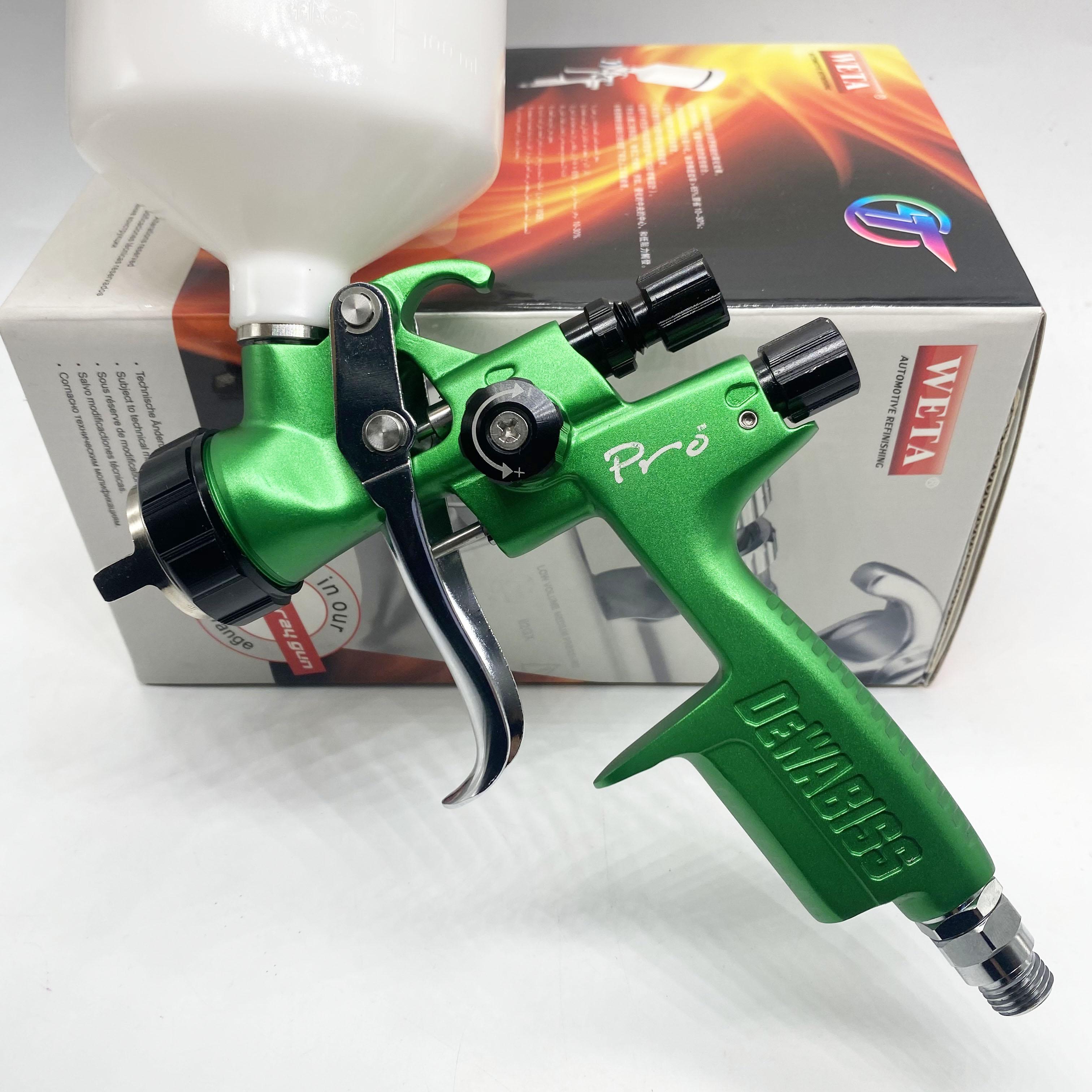 AliExpress - 1000PRO new green spray gun 1.3mm HVLP car sprayer painting tool high Atomization air paint sprayer high quality