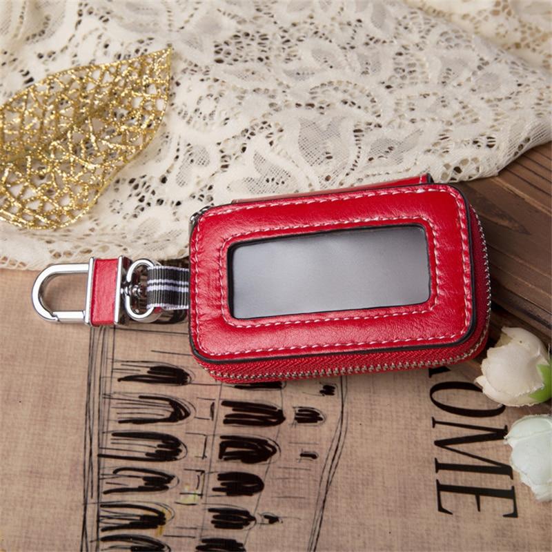 Portable Leather Multi Function Key Case Leather Car Key Bag Fashion Housekeeper Holders Key Rings M