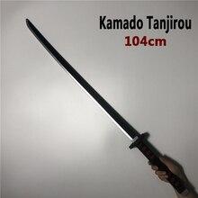 104cm Kimetsu no Yaiba Sword Weapon Demon Slayer Kamado Tanjirou Cosplay Sword 1:1 Anime Ninja Knife PU toy