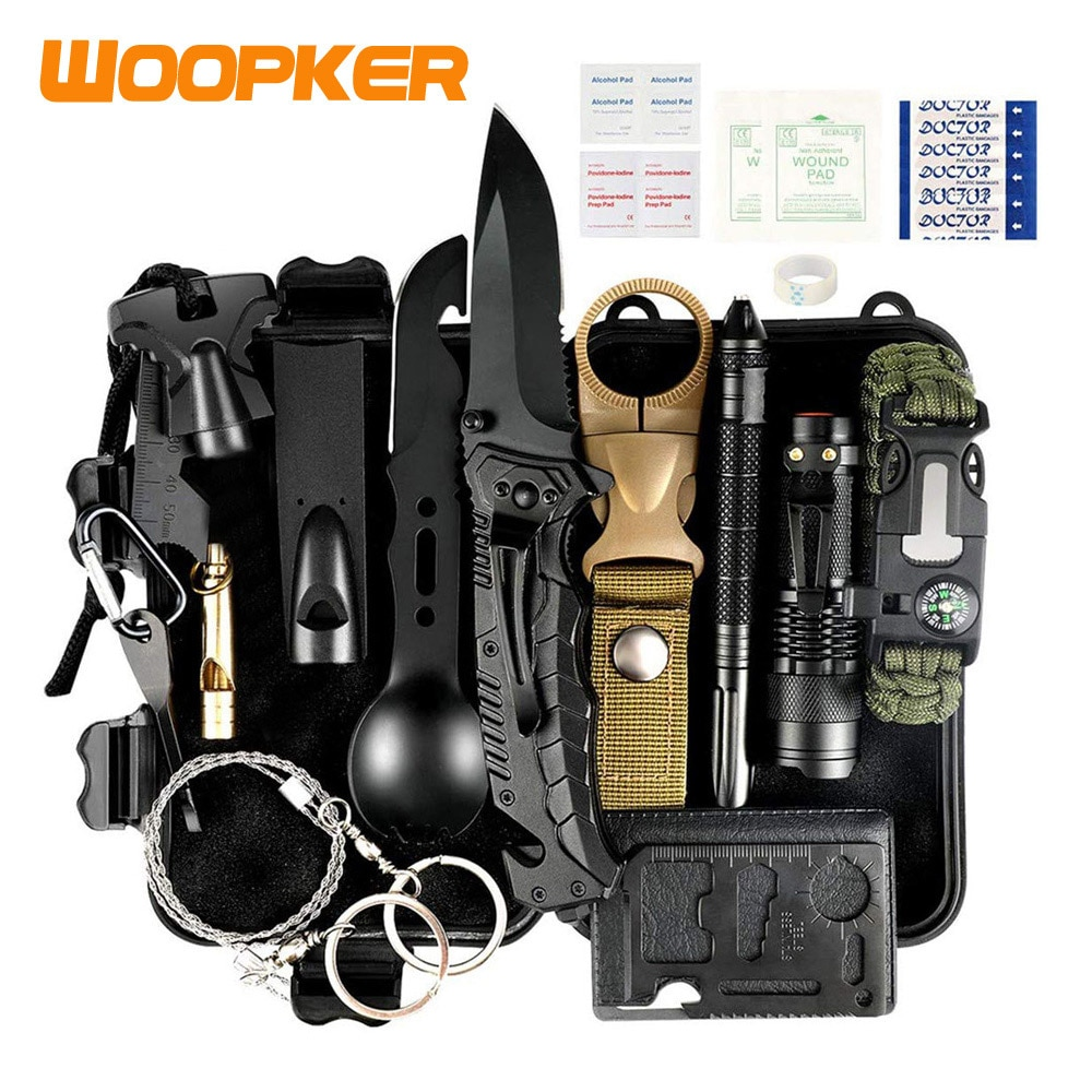 35Pcs Emergency Survival Kit Birthday Gifts Tactical Hunting Gear for Home Car Camping Hiking Hunting Equipment