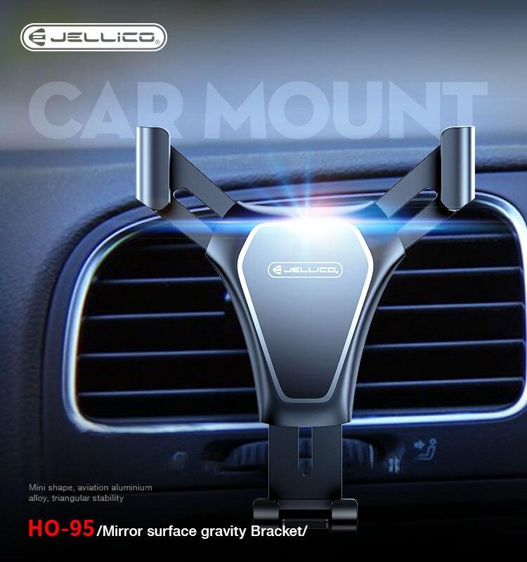 Jellico الجاذبية حامل سيارة للهاتف في سيارة الهواء تنفيس كليب جبل لا المغناطيسي حامل هاتف المحمول حامل الخليوي دعم آيفون X