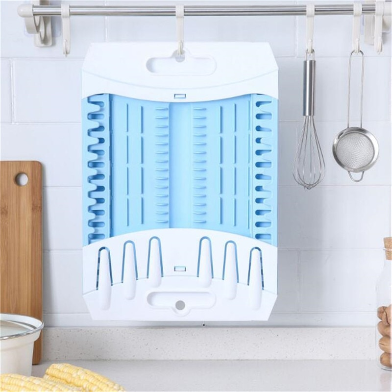 Bolsa de almacenamiento para cocina vegetal desagüe del lavabo cesta retráctil vajilla soporte de almacenaje con ranuras