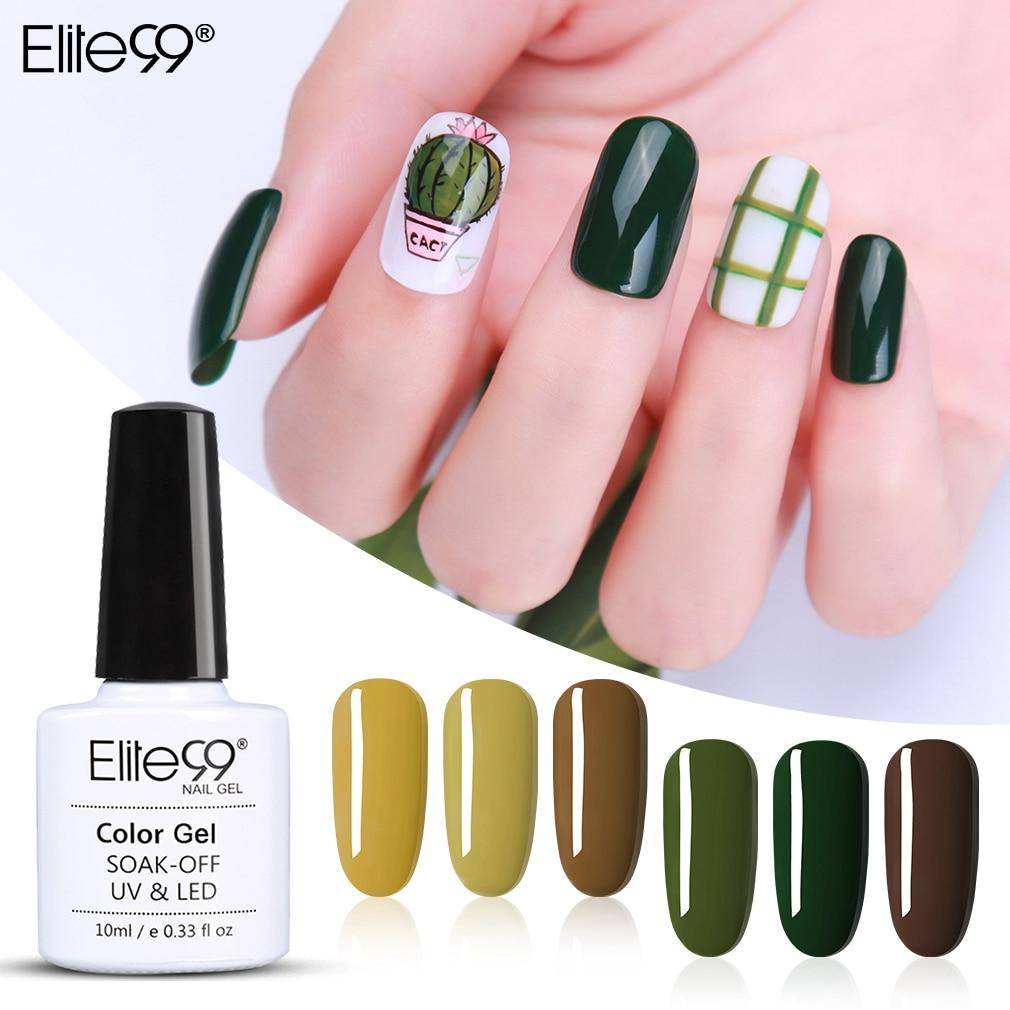 Elite99 10ml Gel de aguacate esmalte de uñas Vernis Semi permanente UV Gel de uñas Primer remojo de esmalte de uñas gelpolish manicura