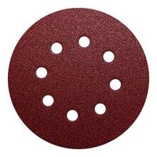 Métal disque Abrasif Rouge Accessoires De Rechange Papier Abrasif 40 60 80 100 120 150 180 240 Grain