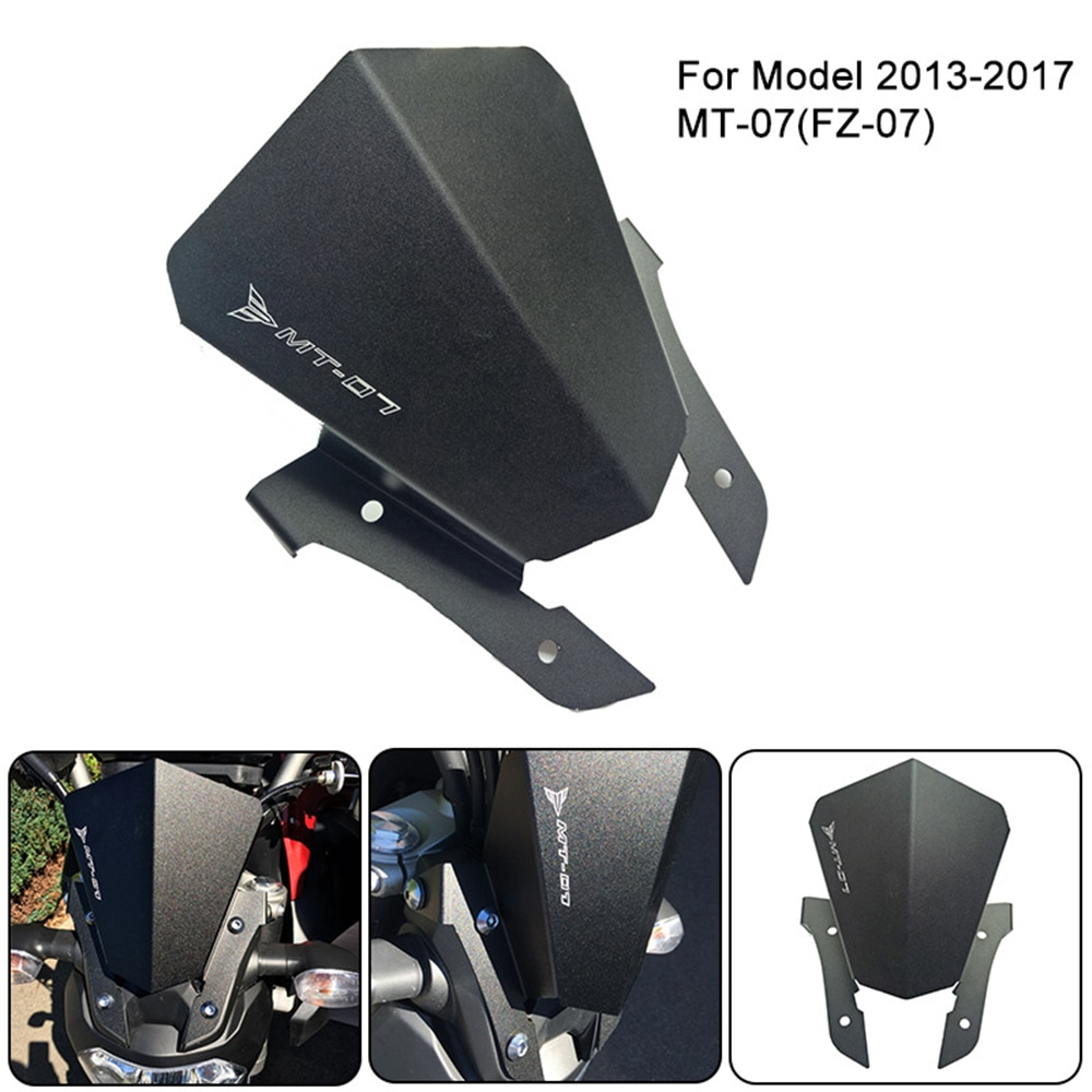 motorcycle wind screen deflector for suzuki boulevard m109 m109r m90 m50 m109r2 m109rz limited 2006 2016 pc windshield w clamps Motorcycle Alluminum Windshield for Yamaha MT07 2013-2017 FZ07 FZ Wind Screen Windscreen Wind Deflector 1 Kit for Sale